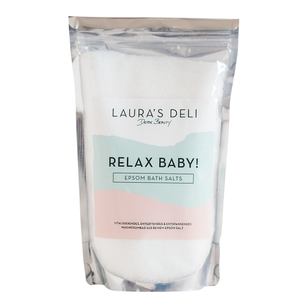 NEW!! RELAX BABY! EPSOM BATH SALTS